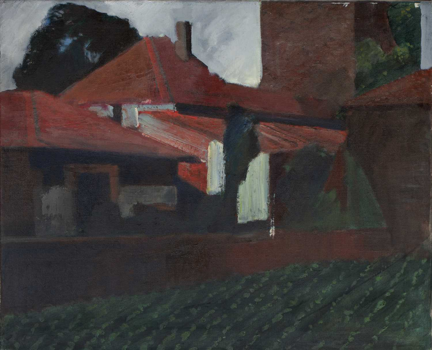 Bernard Kay (1927-2021) Five landscape and village studies all unsigned oil on canvas largest 71 x - Image 5 of 13