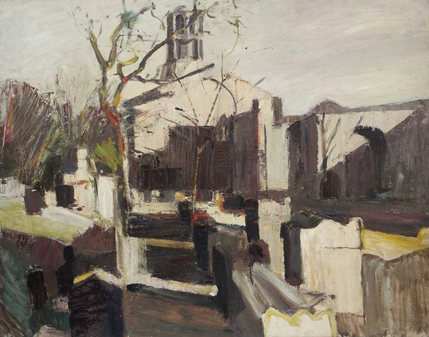 Bernard Kay (1927-2021) Three unsigned oil paintings largest 82 x 106cm; together with two signed - Image 3 of 8