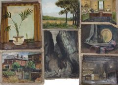 Bernard Kay (1927-2021) Eleven early oil paintings, circa 1940 mainly still life and landscapes (