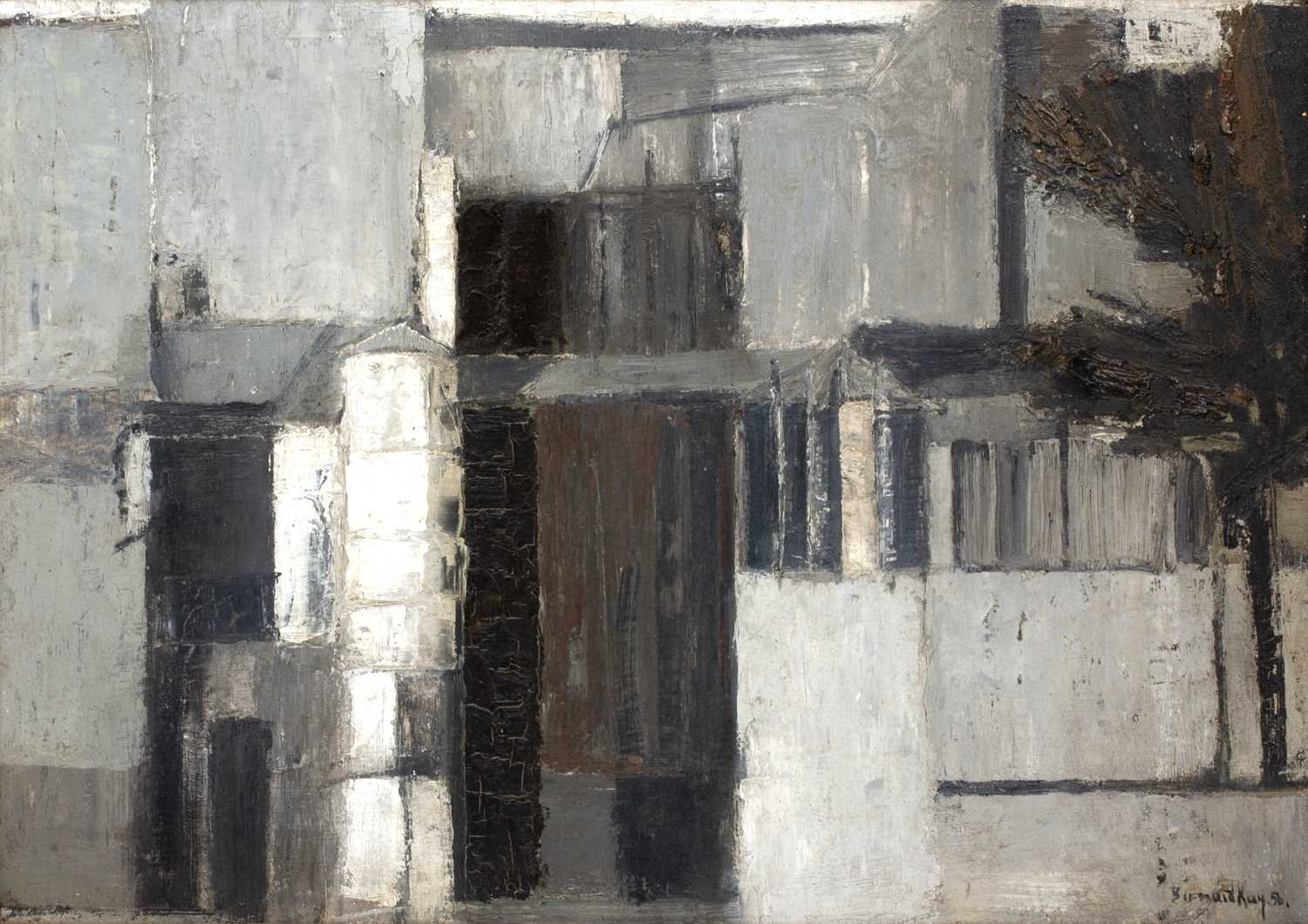 Bernard Kay (1927-2021) Mansion, 1956 signed and dated (lower right), titled (to reverse) oil on