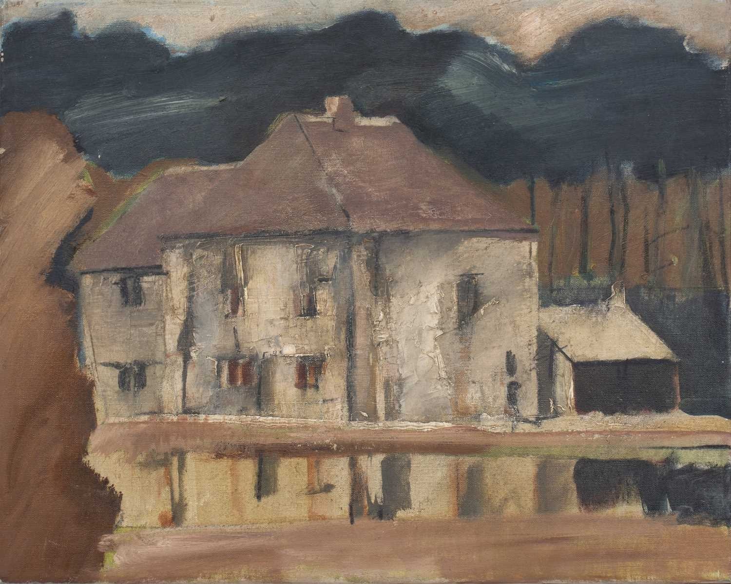 Bernard Kay (1927-2021) Three oil paintings of Country Houses the largest 50 x 75cm (3).