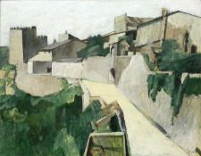Bernard Kay (1927-2021) Upper Certaldo signed (lower right), titled and dated (to reverse) oil on