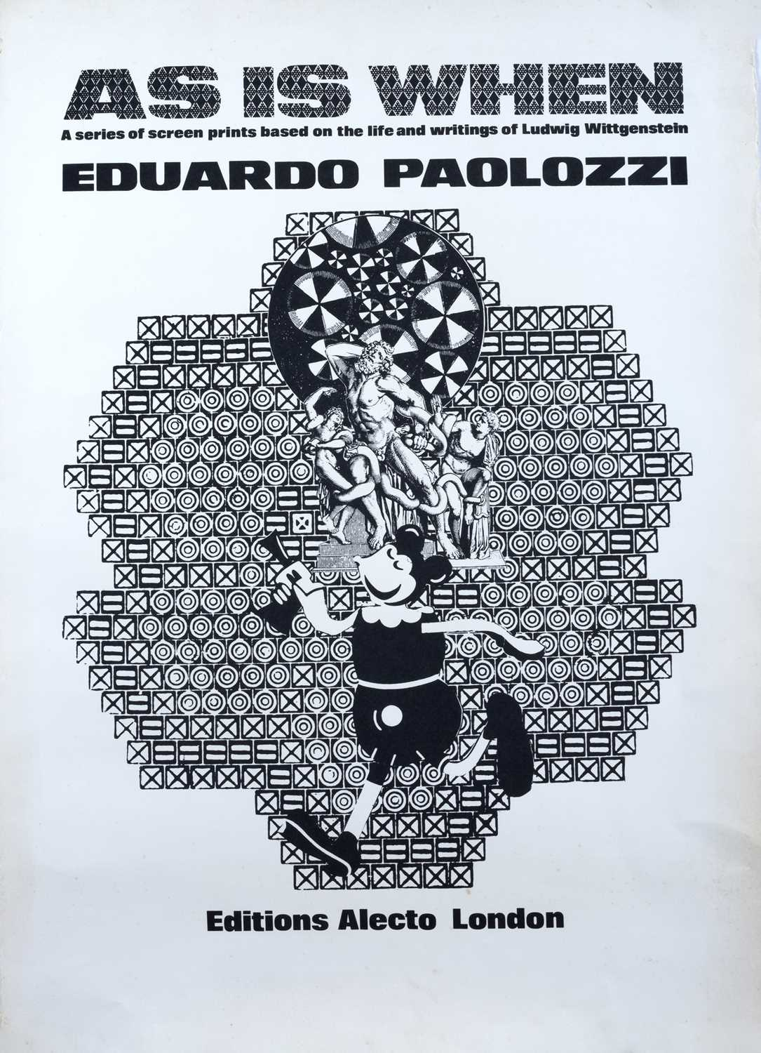 Eduardo Paolozzi exhibition poster As is When, Editions Electo London 81 x 57cm; together with a - Image 2 of 2