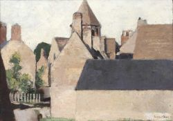 Bernard Kay (1927-2021) Chapel End, 1987 signed and dated (lower right), titled (to reverse) oil