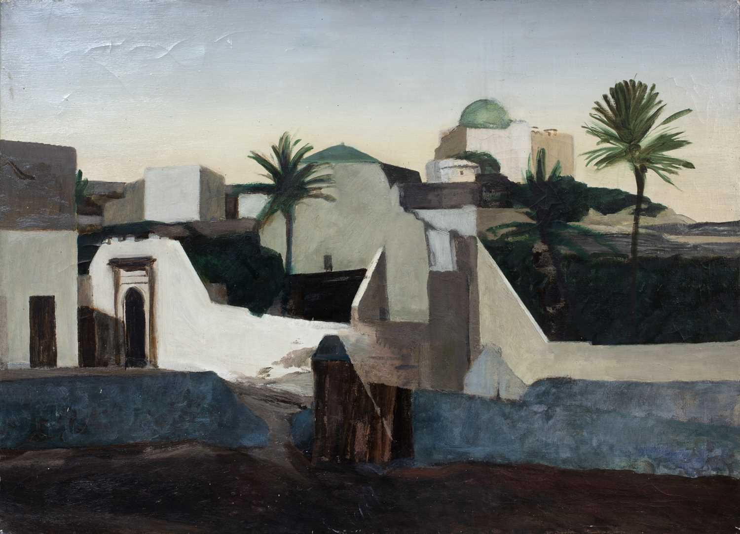 Bernard Kay (1927-2021) Five landscape and village studies all unsigned oil on canvas largest 71 x