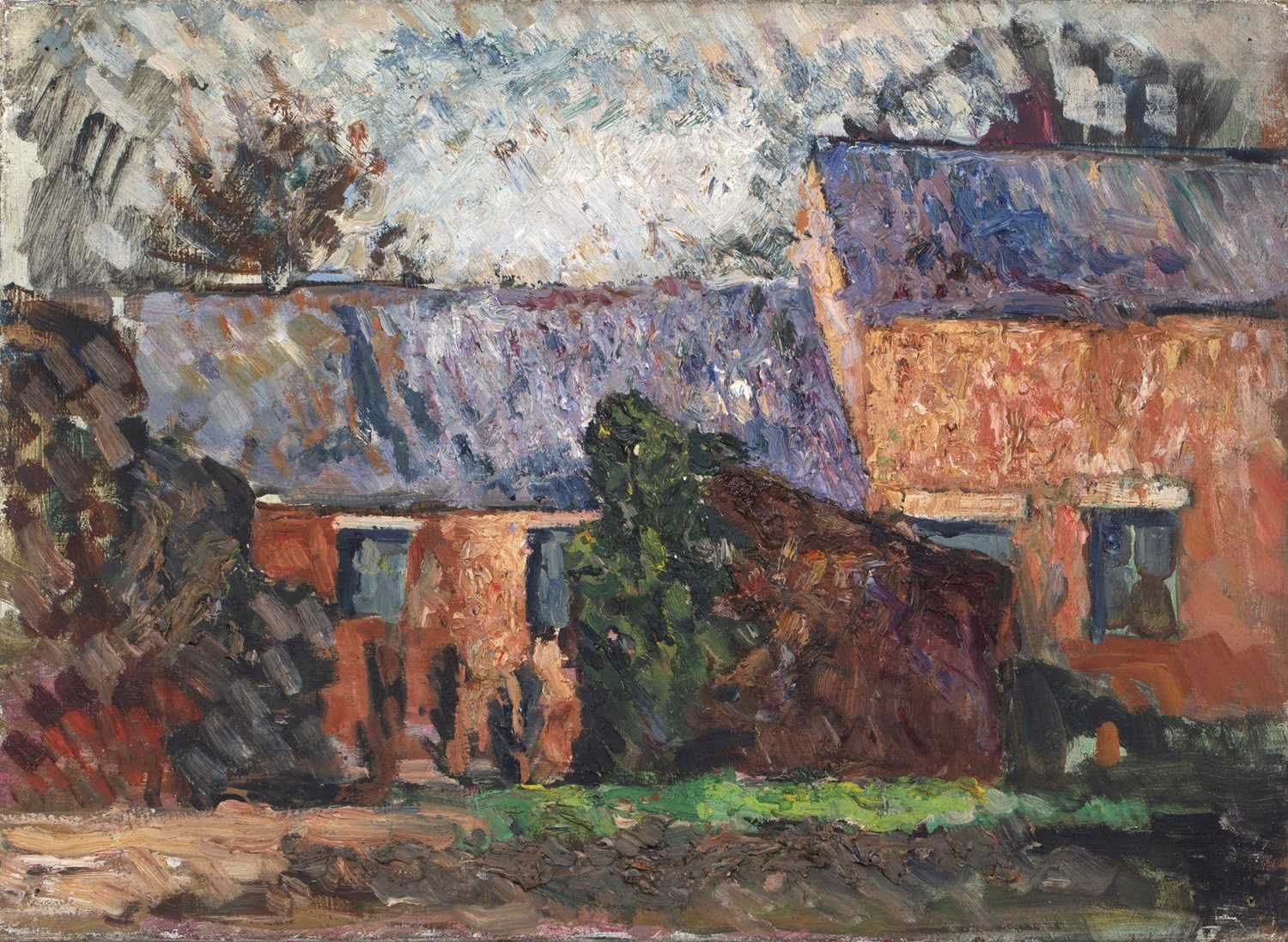 Bernard Kay (1927-2021) Three oil paintings of Country Houses the largest 50 x 75cm (3). - Image 2 of 7