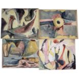 Bernard Kay (1927-2021) A series of six abstracts, 1951 each signed and dated watercolour on paper