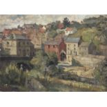 Bernard Kay (1927-2021) English village scene, 1947 signed and dated (lower right) oil on board 45 x