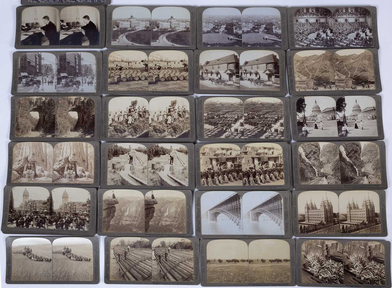 A Stereograph viewer by Underwood & Underwood, together with a large quantity of photo stereoview - Image 2 of 2