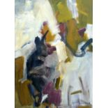 Bernard Kay (1927-2021) Through Yellow, 1958 signed and dated (lower right), titled (to reverse) oil