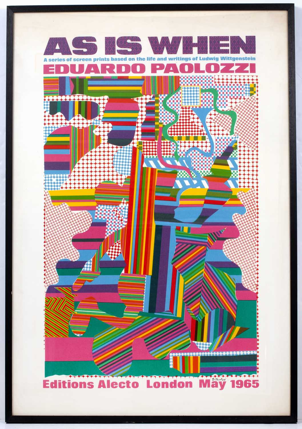 Eduardo Paolozzi (1924-2005) As is When exhibition poster, 1965 signed in ink (lower right) offset - Image 2 of 4
