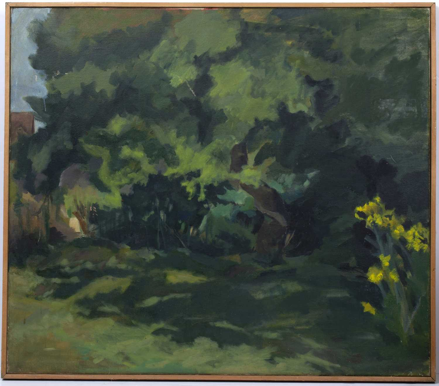 R. Stoddart (20th Century School) Woodland signed (to reverse) oil on canvas 75 x 86cm. - Image 2 of 4