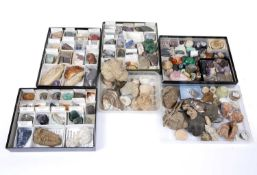 A large collection of Geological and Mineral Specimens, Agates etc., some polished and labelled,