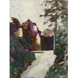 Bernard Kay (1927-2021) Two untitled works oils on board 122 x 76cm.