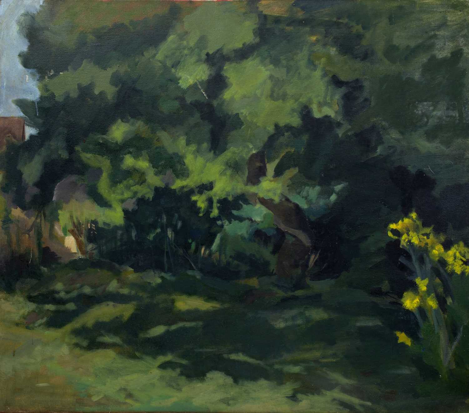 R. Stoddart (20th Century School) Woodland signed (to reverse) oil on canvas 75 x 86cm.