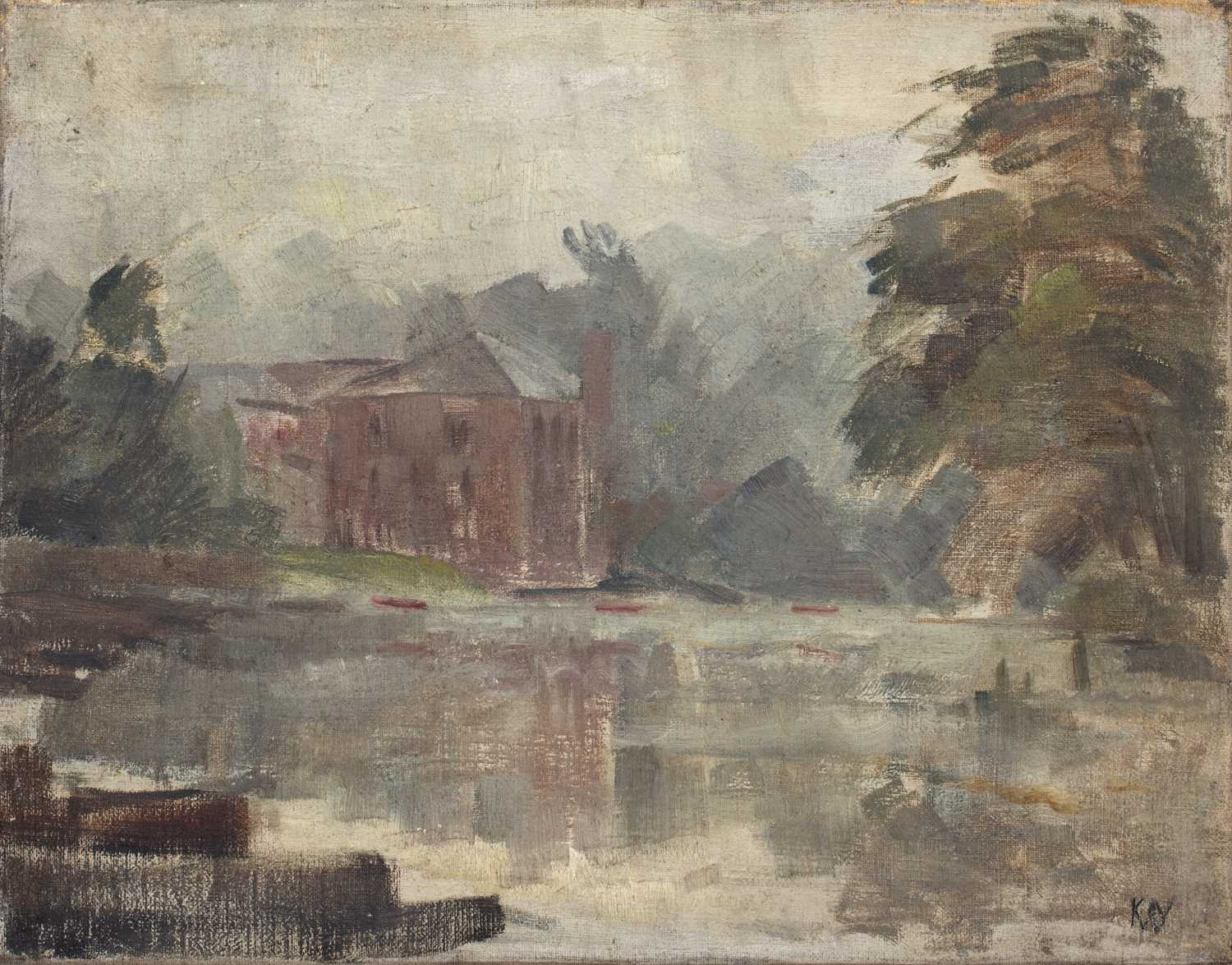 Bernard Kay (1927-2021) Three oil paintings of Country Houses the largest 50 x 75cm (3). - Image 3 of 7