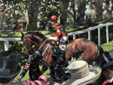 Sherree Valentine Daines (b.1959) 'Ascot Race Day II' limited edition canvas print, numbered 81/