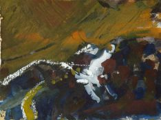 William 'Bill' Marshall (1923-2007) 'Fading light' mixed media, dated 1994, mounted onto a greetings
