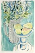 Carole Estoiffe (20th Century) 'Spring flowers' monoprint, signed in pencil, lower right,