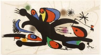 Joan Miro (1893-1983) 'Grand Palais' lithograph, numbered 53/100, signed in pencil lower right, 21cm