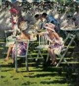 Sherree Valentine Daines (b.1959) 'Champagne in the shadows' limited edition canvas print,