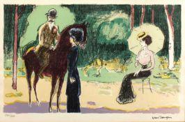 Kees Van Dongen (1877-1968) 'La rencontre au bois' lithograph, numbered 194/290 in pencil lower