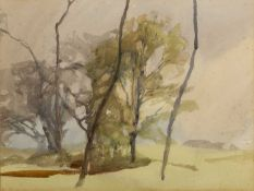 Archibald Knox (1864-1933) 'Kew Aigee' watercolour, unsigned, titled lower left, 42cm x 55cm