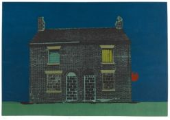 Mary Barnes (20th Century British School) 'Blind house' screenprint, numbered 1/20, signed and