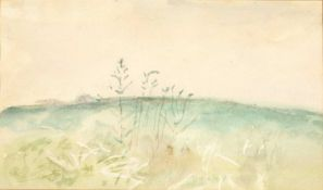 Mary Potter (1900-1981) 'Spring' watercolour, unsigned, 11cm x 19cm Provenance: Label to the reverse
