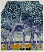 June Berry (b.1924) 'Le Verger' etching and aquatint, artists proof, signed in pencil lower right,