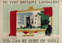 Edward McKnight Kauffer (1890-1954) 'Dinton Castle near Aylesbury for Shell' lithographic poster,