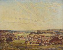 Freda Marston (1895-1949) 'Untitled landscape' oil on canvas, signed lower left, James Bourlet &