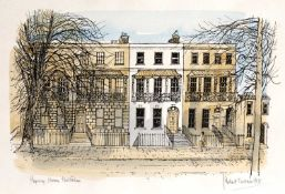 Robert Tavener (1920-2004) 'Regency houses, Cheltenham' lithograph, signed and titled in pencil,