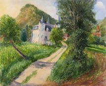 Christopher Prewett (b.1952) The Chateau signed (lower right) watercolour 64 x 75cm.Condition