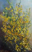 Irene Wellens (1923-2004) Still life of yellow flowers signed (lower left) oil on canvas 50 x 31cm.