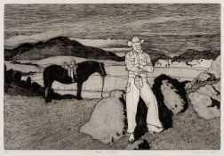 Robert Young (20th Century) Peter Magay signed, titled, and in pencil etching 43 x 56cm; together