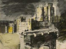 John Piper (1903-1992) Windsor Castle lithograph 27 x 35cm; and a colour print after Cocteau (2).