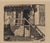 Sydney Lee (1866-1949) The Farm, no 39-56 signed and inscribed in pencil (in the margin) wood