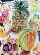 Hilary Rosen (Contemporary) Fruit still life, 1991 signed and dated (lower right) watercolour 72 x