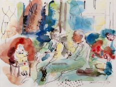 David Risk Kennard (b.1953) Conversation, 1996 signed and dated (lower right) watercolour 26 x