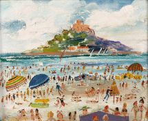 Simeon Stafford (b.1956) St Michaels Mount, 2015 signed (lower right), dated (to reverse) oil on
