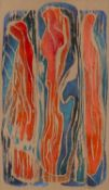 Modern British School Abstract indistinctly signed (lower right) oil on paper 31 x 18cm.