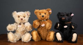 A group of six Steiff British Collectors teddy bears for the years 2009, 2011, 2012, 2013, 2014