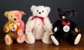 A Steiff teddy bear club edition 1999/2000 'Jahrtausendwechsel-Bar' in gold and rose colouring,