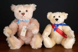 A Steiff 1994 replica teddy bear from 1927 'Rose 48' approximately 46cm high together with a 1994