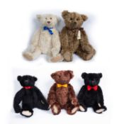 A group of five Atlantic bears all supplied exclusively to Teddy Bears of Witney, consisting of '