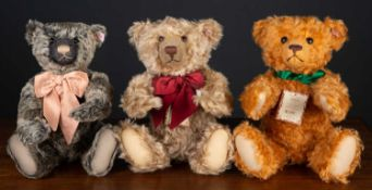 A group of three Steiff British Collectors teddy bears for 2005, 2006 and 2007 with original