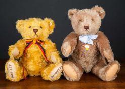 A 1996 Steiff replica 1951 teddy bear 'Carmel 50', numbered 883/5000, 50cm high together with a