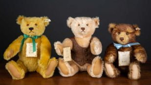 A group of three Steiff British Collectors teddy bears for the years 1994, 1995 and 1996Condition
