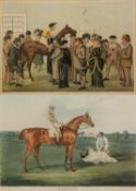 A hand coloured aquatint by Thomas Sutherland after John Frederick Herring 'Barefoot, the winner